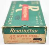 .45 Auto Rim ammunition - 1 box Remington