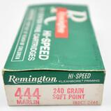 444 Marlin ammunition - (1) box Remington Hi-Speed