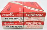 .308 Winchester ammunition (4) boxes Federal