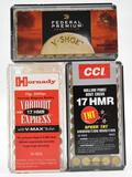 17 HMR ammunition (3) boxes selling as lot,