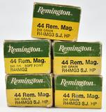 .44 Rem. Mag. ammunition (5) boxes Remington