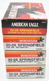 .30-06 Sprg. ammunition (4) boxes, (3) are