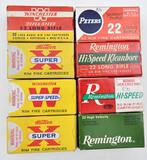 .22 Long Rifle ammunition (8) boxes total very