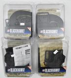 (4) Blackhawk Serpa concealment holsters matte