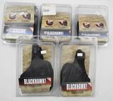 (5) Blackhawk holsters to include, two leather