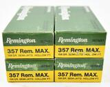 .357 Rem.Max Ammunition (4) boxes