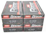 .40 S&W Assorted Ammunition (4) boxes
