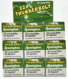 .22 Long Rifle (10) boxes Remington Thunderbolt