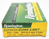 .25-06 Rem. ammunition (1) box Remington