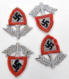 lot of four German RAD Insignia patches, some