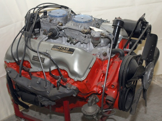 """Chev 409 engines, """"62 Chev Parts, Snap On Tools"""