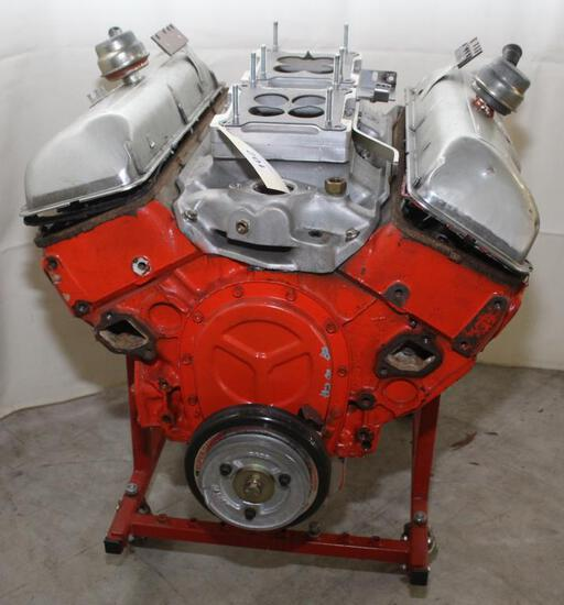 Chev. 409 long block engine w/dual 4 barrel intake