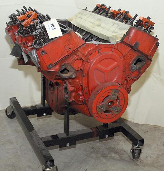 Chev. 409 engine less intake manifold, 1964