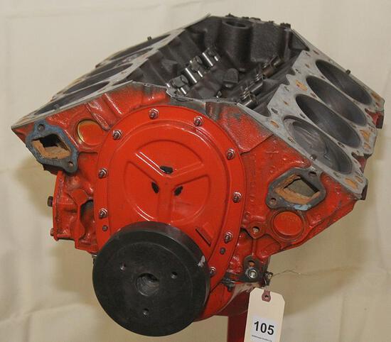 1964 Chev. 409 short block engine, #3844422