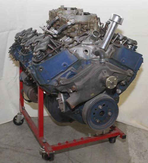 Chev. 409? Engine, dual four carb setup