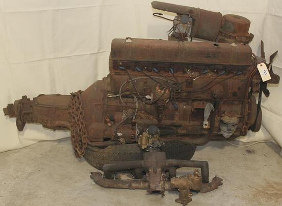Buick straight 8 engine with trans, #50895237