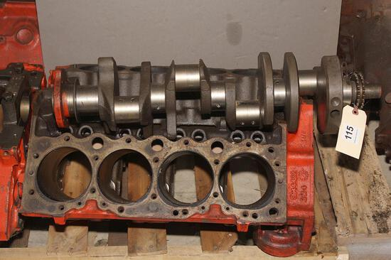 Chevy 409 bare block with crank shaft, #3844422