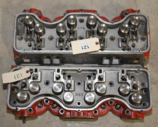 Pair Chevy 409 BWR aluminum heads