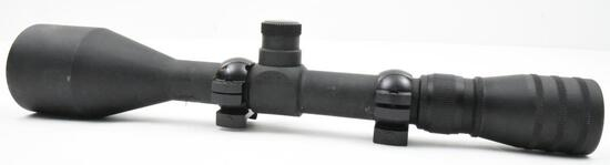 Used Redfield LE-9 rifle scope, manufactured for law enforcement being a 3-9x50 scope