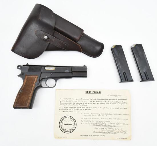 FN Herstal, Nazi Browning High Power Rig, 9mm, s/n 64733A, pistol, brl length 4.675""