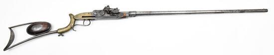 * Rare I. Jennings, Engraved Repeating Takedown Sporting Muzzleloader, .62 cal, s/n 31, muzzleloader