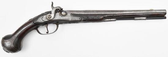 * A. Glavcha Italian, Elaborately Embellished Gentleman's Pistol, .62 cal, s/n 48, muzzleloading