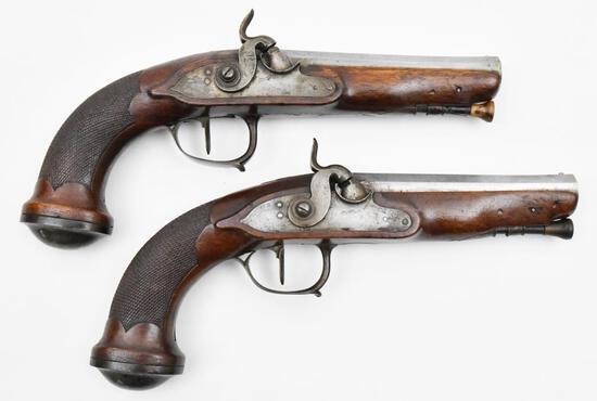 "* Unknown Manufacturer, Overcoat Pistols, 0.565"" diameter bore, muzzleloading pistols,"