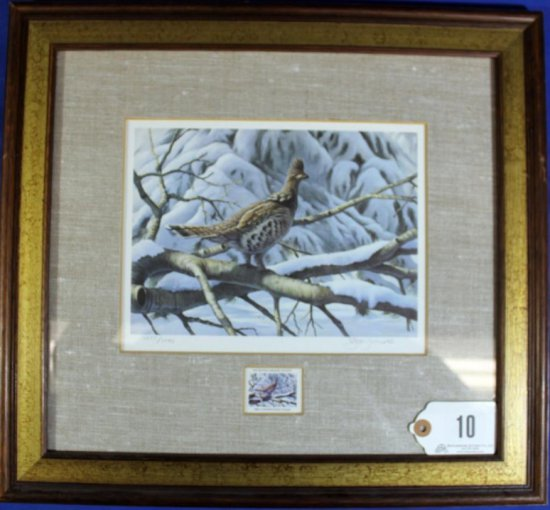 1984 Conservation Stamp Print - The Ruffed Grouse