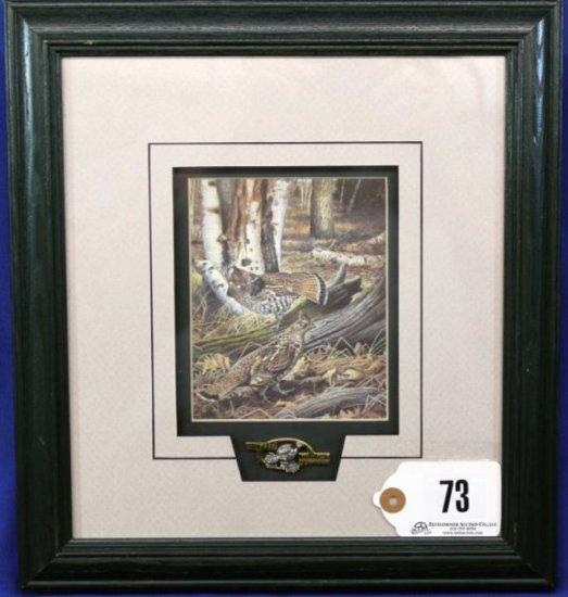 Ruffed Grouse Society Single Print & Medallion,