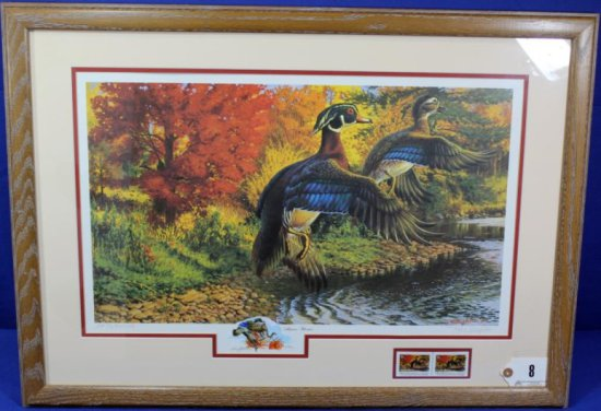 Autumn Woodies, Pa Duck Stamp Print, Framed W/