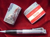 3 VINTAGE CIGARETTE LIGHTERS-ONE IS WINSTON--ONE PEN TOP AND PUERTO RICO