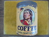 "STUNNING VINTAGE COFFEE ADVERTISING CAN FEATURING ""NATIVE AMERICAN"" GRAPHICS"