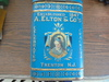 """NEWER REMAKE """"ELTON & CO"""" CRACKERS & FLOUR ADVERTISING TIN-GREAT SIZE AND FAIRLY NICE CONDITION"""