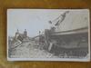 "1913 POSTED REAL PHOTO POST CARD OF ""NORTHWEST RAILROAD"" WRECK-NEAR WAHOO NEBRASKA"