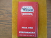 """OLD """"WILSONS HYBRIDS"""" ADVERTISING NOTE BOOK FOLDER--5 BY 9 INCHES"""