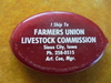"""OLD SIOUX CITY STOCKYARDS COMMISSION CO. COIN HOLDER """"FARMERS UNION LIVESTOCK COMMISSION"""""""