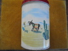 """VINTAGE 'OLD RELIABLE"""" COFFEE"""" TIN WITH SOUTHWEST DECORATIVE DESIGN FOR CANISTER"""