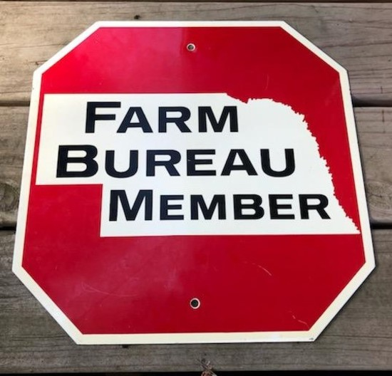 "FARM BUREAU MEMBER - ""STOP"" SIGN"