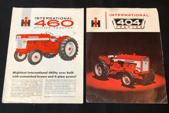 INTERNATIONAL 460 UTILITY TRACTOR AND 404 TRACTOR SALES BROCHURES