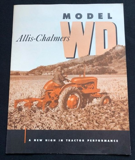ALLIS-CHALMERS MODEL WD TRACTORS BROCHURE