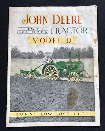 JOHN DEERE TWO-CYLINDER TRACTOR - MODEL D BROCHURE