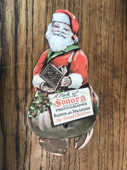 SONORA PHONOGRAPHS & RADIOS ADVERTISING FEATURES SANTA CLAUSE