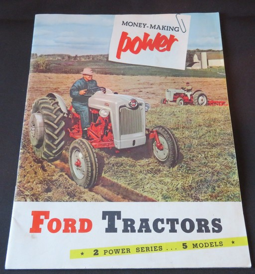1954 FORD TRACTORS SALES BROCHURE
