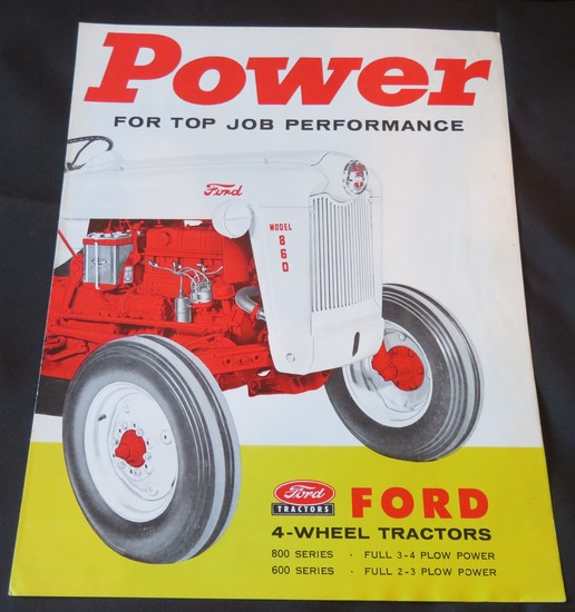 FORD 800 & 600 SERIES TRACTOR BROCHURE