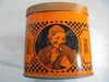 ANTIQUE TOBACCO OR SNUFF ADVERTISING TIN WITH GRAPHICS
