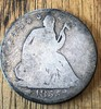 1855-O WITH ARROWS SEATED LIBERTY HALF DOLLAR