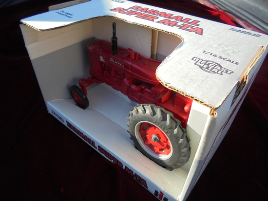 "TOY FARMALL SUPER ""M-TA"" TRACTOR IN THE BOX-CLEAN AND BRIGHT"
