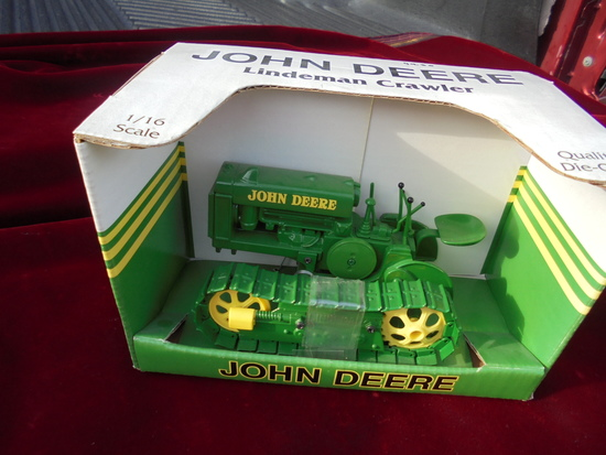 "TOY JOHN DEERE ""LINDEMAN CRAWLER"" STILL IN BOX- 1/16 SCALE"