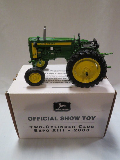 "JOHN DEERE MODEL ""420""V TRACTOR - TWO CYLINDER CLUB"