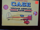 CASE VINTAGE AIRPLANE BANK IN ORIGINAL BOX-NEVER USED